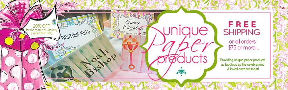 20% off all personalized stationery