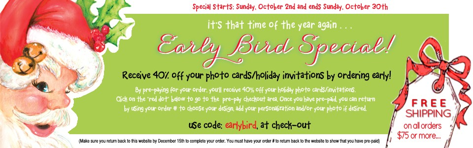 Holiday Cards & Invitations Discounted Special