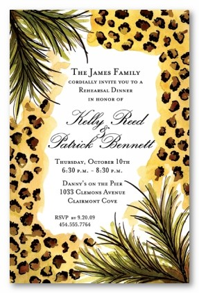 Leopard Print Border Personalized Party Invitations