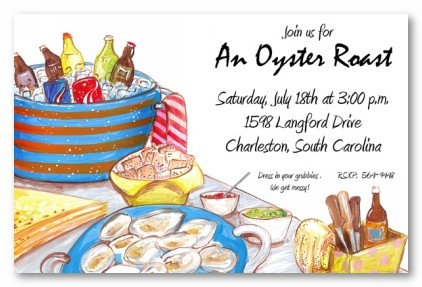 Oyster Roast Personalized Party Invitations By Address To Impress