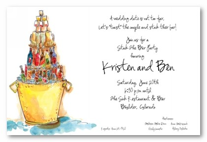 Stock the Bar Personalized Party Invitations by Address to Impress