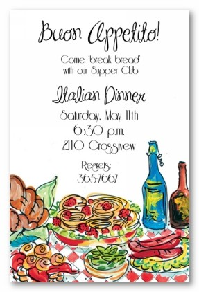 italian dinner personalized party invitations by address to impress, Party invitations