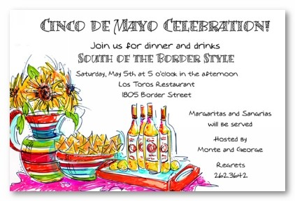 cinco de mayo theme personalized party invitations by address to impress