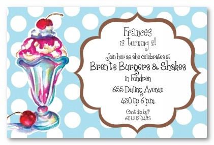 ice cream sundae personalized party invitations by address to impress, Party invitations