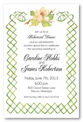 southern soiree personalized party invitations by address to impress