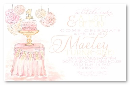 Shabby Chic Celebration Personalized Party Invitations