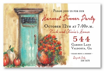 Autumn's Arrived Personalized Party Invitations