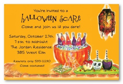 Creep Treats Personalized Party Invitations