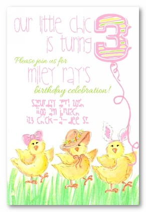 Chic-A-Dees Personalized Party Invitations