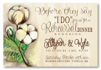 Cotton Pickin' Personalized Party Invitations