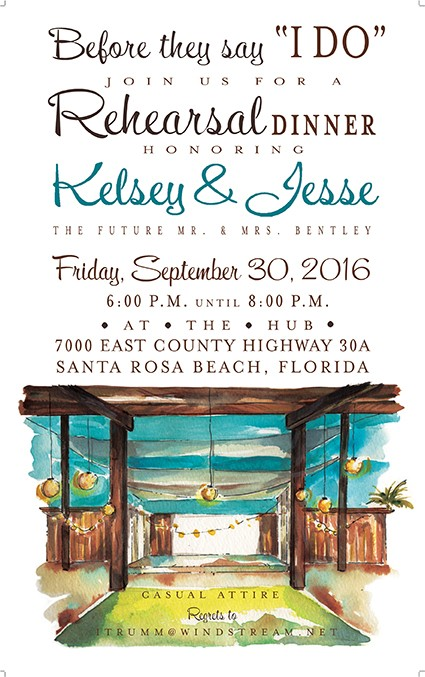 Outdoor Pavillion Personalized Party Invitations