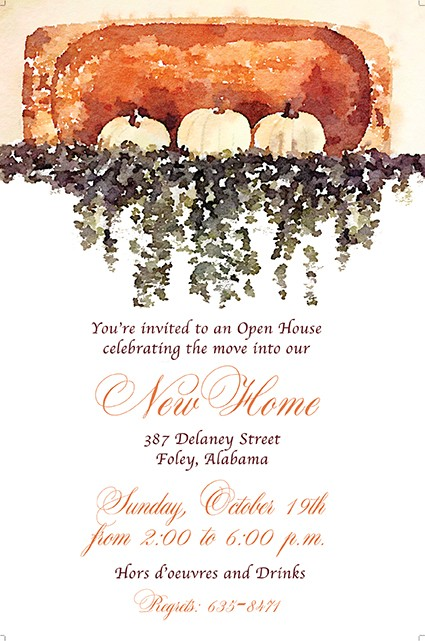 Thanksgiving Harvest Bowl Personalized Party Invitations