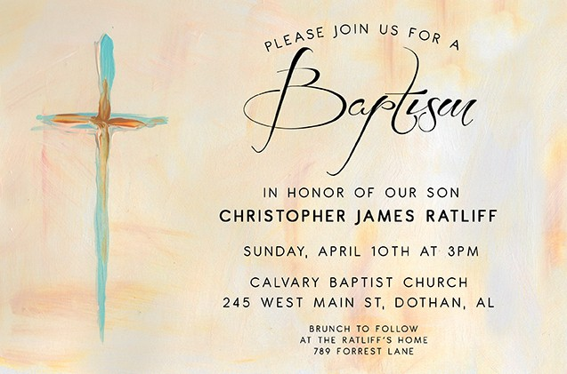 The Cross Personalized Party Invitations