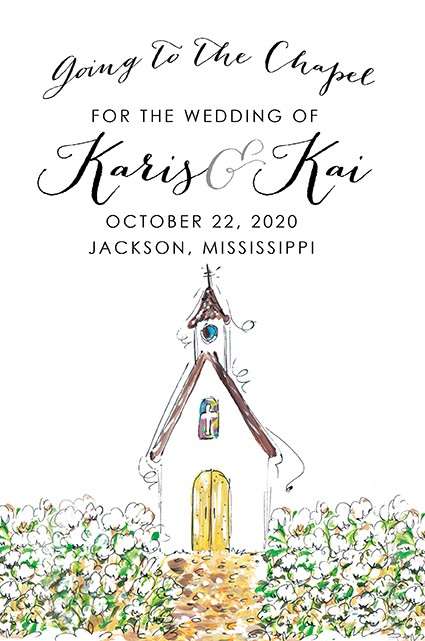 Chapel Personalized Party Invitations