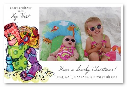 warm wishes beach christmas personalized holiday photo cards - Beach Themed Christmas Cards