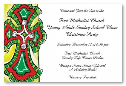 Religious Cross Personalized Holiday Christmas Party Invitations By Address To Impress