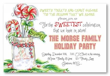 A Minty Mason Personalized Holiday Invitations