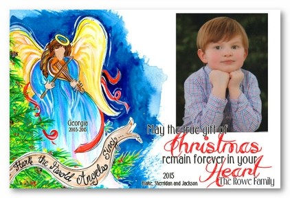 Angels Sing Personalized Holiday Photo Cards