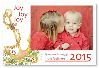 Anchor Away Personalized Holiday Photo Cards