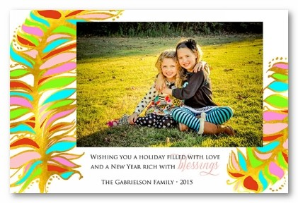 Faith, Hope, Love Personalized Holiday Photo Cards