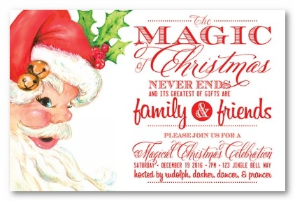 Ole St. Nick Personalized Holiday Invitations
