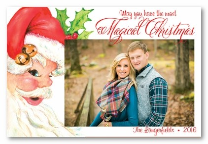 Ole St. Nick Personalized Holiday Photo Cards