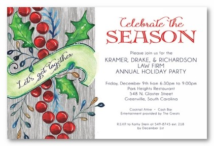 Comfort and Joy Personalized Holiday Invitations