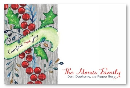 Comfort and Joy Personalized Holiday Photo Cards