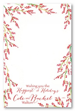 Holiday Berries Personalized Holiday Photo Cards