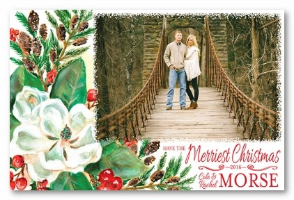 Magnolia Personalized Holiday Photo Cards
