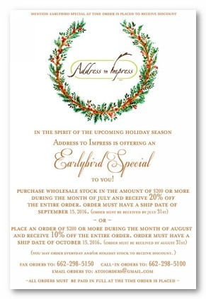 Wreath Personalized Holiday Invitations