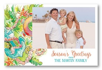 Deep Sea-son Personalized Holiday Photo Cards