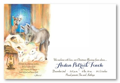 His Birth Personalized Holiday Photo Cards
