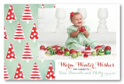 Fun Dot Trees Personalized Holiday Photo Cards