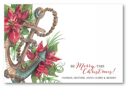 Anchor in the Season Personalized Holiday Photo Cards