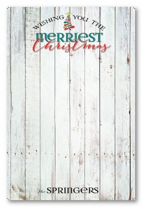 Country Christmas Personalized Holiday Photo Cards