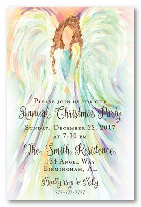 Angels Sing V Personalized Holiday Invitations