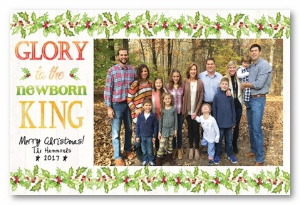 Glory Personalized Holiday Photo Cards