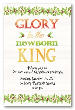 Glory V Personalized Holiday Invitations