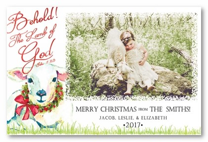 Lamb of God Personalized Holiday Photo Cards