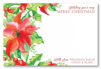 Holiday Foliage Personalized Holiday Photo Cards
