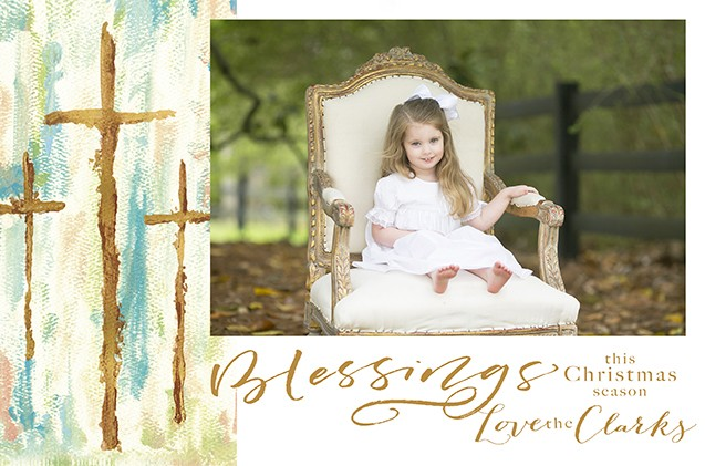 Golden Glory Personalized Holiday Photo Cards