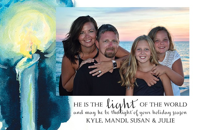 Light of the World Holiday Photo Cards