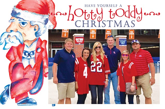 Hotty Toddy Christmas Holiday Photo Cards