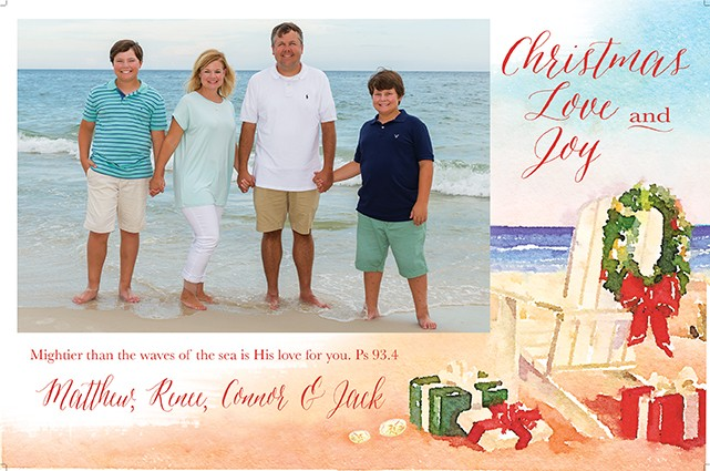 By the Sea Holiday Photo Cards