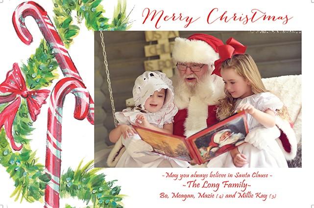 Candycane Land Holiday Photo Cards