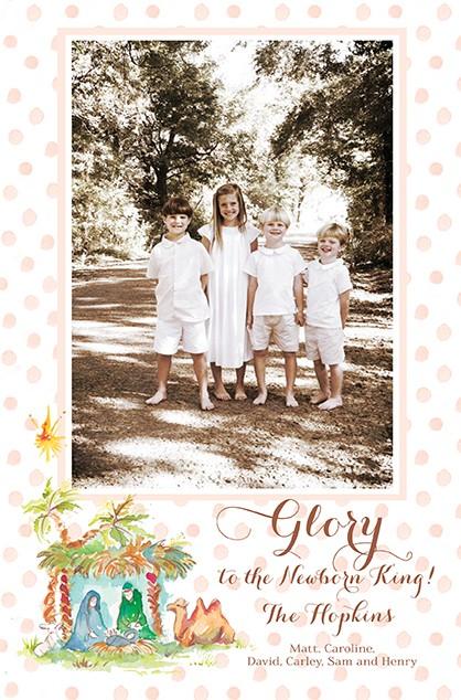 Newborn King Girl Holiday Photo Cards
