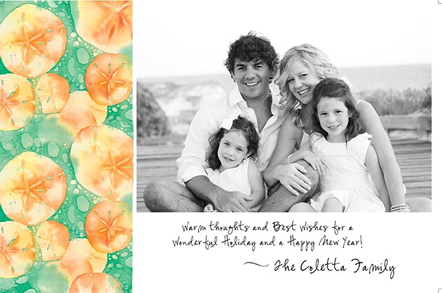 Sand Dollars Holiday Photo Cards