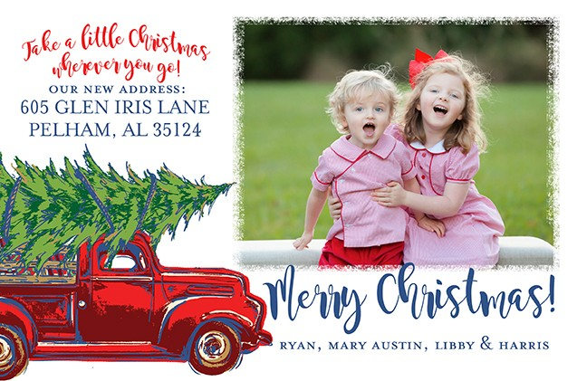 Vintage Truck Holiday Photo Cards