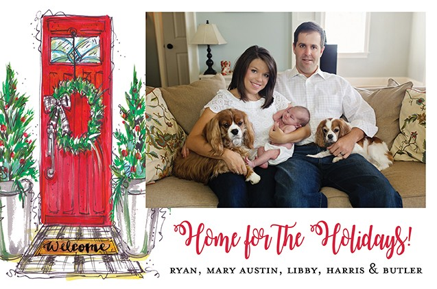 Red Door Holiday Photo Cards